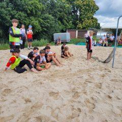 mC wird beim Beachhandball vom Wetter ausgebremst